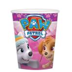 Paw Patrol Pink Paper Cups 266ml - 6 PKG/8