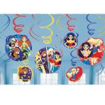 DC Super Hero Girls Hanging Swirl Decorations - 6 PKG/12