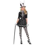 Dark Mad Hatter Costume - Size 10-12 - 1 PC