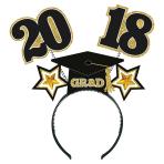 2018 Grad Tinsel Headboppers 26cm x 26cm - 8 PC