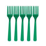 Festive Green Heavy Weight Plastic Forks - 12 PKG/48