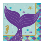 Mermaid Wishes Beverage Napkins 25cm - 12 PKG/16
