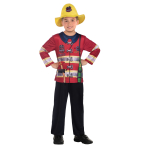 Fire Fighter Sustainable Costume - Age 6-8 Years - 1 PC