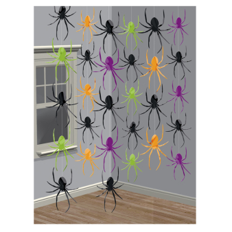 Spider String Decorations 2.1m - 12 PKG/6