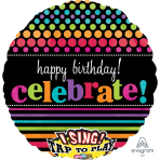 "Good Times Happy Birthday Jumbo Sing-A-Tune XL Foil Balloons 28""/71cm P60 - 5 PC"