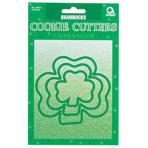 Shamrock Cookie Cutters 7.6cm - 15.2cm 12 PKG/3