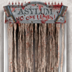 Asylum Bloody Door Curtains 1.4m x 96cm - 6 PC