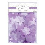 Lilac Flowers & Butterflies Fabric Confetti - 6 PKG/300