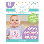 Baby Shower Stickers Girl - 12 PKG/12