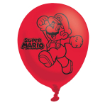 "Super Mario Bros 4 Sided Latex Balloons 11""/27.5cm - 6 PKG/6"