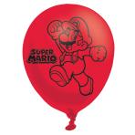 "Super Mario Bros 4 Sided Latex Balloons 11""/27.5cm - 6PKG/6"