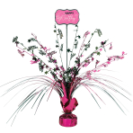 Black & Pink Happy Birthday Spray Centrepieces - 6 PC