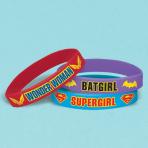 DC Super Hero Girls Rubber Bracelets - 6 PKG/6