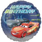 Cars 3 Happy Birthday Standard HX Foil Balloons S60 - 5 PC