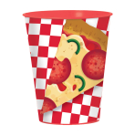 Pizza Party Plastic Favour Cups 473ml - 12 PC