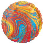 Marblez Colourful Circle Standard HX Foil Balloons S15 - 5 PC