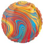 Marblez Colourful Circle Standard HX Foil Balloons S15 - 5 PC