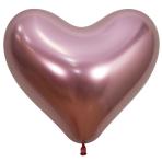 "Reflex Crystal Pink Heart 909 Latex Balloons 14""/35cm - 50 PC"