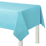 Caribbean Blue Plastic Tablecovers 1.37m x 2.74m - 12 PC