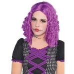 Adults Damaged Doll Purple Wig - 3 PC