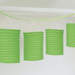 Kiwi Green Paper Lantern Garlands 3.65m - 6 PC