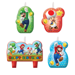 Super Mario Happy Birthday Candles - 6 PKG/4