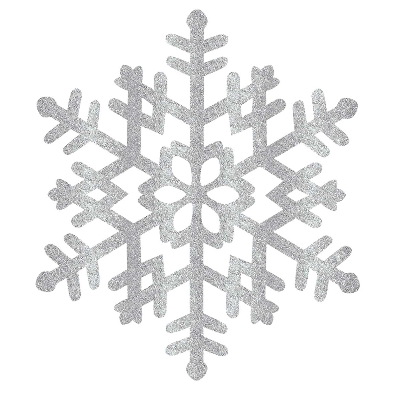 Large Snowflake Decorations 5cm x 5cm - 5 PC : Amscan International