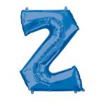 """Letter Z Blue SuperShape Foil Balloons 34""""/""""86cm P50 - 5 PC"""