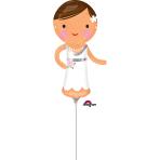 """Lovely Bride Mini Shape Foil Balloons 6""""/15cm w x 13""""/33cm h A30 - 5 PC"""