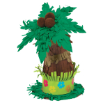 Hawaiian Mini Tree Table Decorations 13cm x 16cm x 9cm - 12 PC