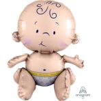 "Sitting Baby Multi Balloon 15""/38"" x 13""/33cm A70 - 5 PC"