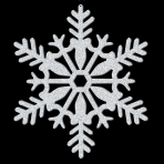 Silver Glitter Snowflake Hanging Decorations 27.9cm - 12 PC