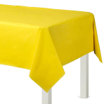Sunshine Yellow Plastic Tablecovers 1.37m x 2.74m - 12 PC
