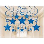 Blue Swirl Party Pack Shooting Stars - 6 PKG/30