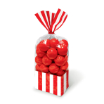 Apple Red Candy Buffet Striped Party Bags - 24 PKG/10