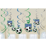 Championship Soccer Decorations Swirls - 12 PKG/12