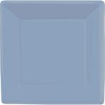 Pastel Blue Square Paper Plates 18cm - 6 PKG/20