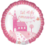 Communion Church Pink Standard Foil Balloons S40 - 5 PC