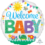 Welcome Baby Cute Icons Standard HX Foil Balloons S40 - 5 PC