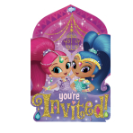 Shimmer & Shine Postcard Invitations - 6 PKG/8