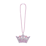 Birthday Princess Bling Necklaces 56cm - 6 PC