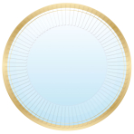 1st Birthday Blue Metallic Paper Plates 23cm - 6 PKG/8