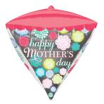 Mother's Day Diamondz Floral Pattern Foil Balloons G20 - 5 PC