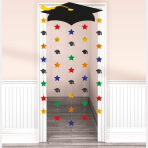 Graduation Cap Door Curtains - 6 PKG