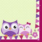 Owls Luncheon Napkins 33cm - 10 PKG/20