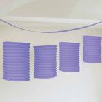 Purple Paper Lantern Garlands 3.65m - 6 PC