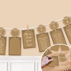 Rustic Seating Chart Garland 3.65m - 6 PC