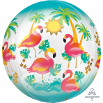 "Let's Flamingle Orbz Foil Balloons 15""/38cm x 16""/40cm G20 - 5 PC"
