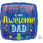 This Guy is one Awesome Dad Standard HX Foil Balloons S40 - 5 PC