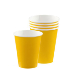 Sunshine Yellow Paper Cups 266ml - 6 PKG/20